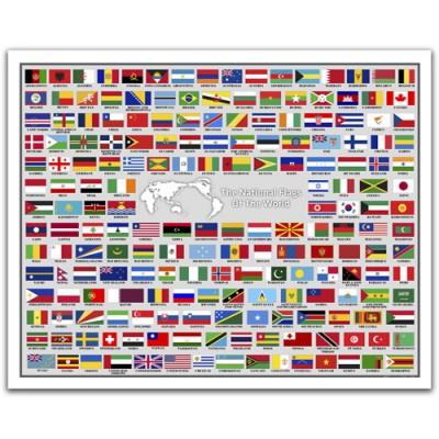 Puzzle en plastique drapeaux du monde avec le nom des - Drapeau rouge avec drapeau anglais ...