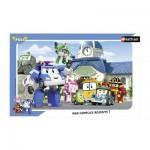 Nathan-86014 Puzzle Cadre - L'équipe des Robocar Poli