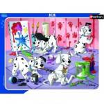 Nathan-86091 Puzzle Cadre - Les 101 Dalmatiens : Séance de peinture