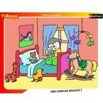 Nathan-86092 Puzzle cadre - T'Choupi au lit