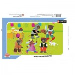Nathan-86116 Puzzle Cadre - Petit Ours Brun