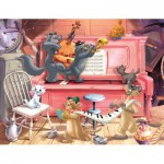 Puzzle  Nathan-86316 Concert d'Aristochats
