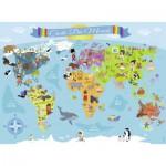 Puzzle  Nathan-86806 Pièces XXL - Carte du Monde