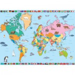 Puzzle  Nathan-86935 Carte du Monde