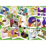Puzzle  Nathan-87109 Lapins Crétins