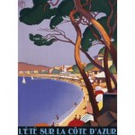 Puzzle  Nathan-87145 Vintage Côte d'Azur