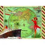 Puzzle  Nathan-87183 Tour du Monde
