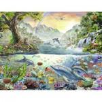 Puzzle  Nathan-87876 Le Paradis des Dauphins