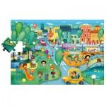 Ludattica-49806 Puzzle Géant de Sol - La Ville
