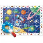 Puzzle  Ludattica-58266 Pièces XXL - Baby Détective : L'Espace
