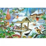 Puzzle  The-House-of-Puzzles-1400 Pièces XXL - Feed The Birds