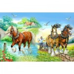 Puzzle  The-House-of-Puzzles-1417 Pièces XXL - Gentle Giants
