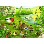 Puzzle  The-House-of-Puzzles-1608 Pièces XXL - Ducks To Water