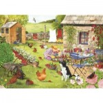 Puzzle  The-House-of-Puzzles-2759 Pièces XXL - Grandma's Garden