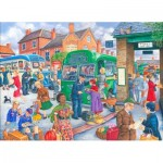 Puzzle  The-House-of-Puzzles-3077 Pièces XXL - Bus Station