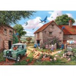Puzzle  The-House-of-Puzzles-3084 Pièces XXL - Farmers Wife