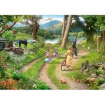 Puzzle  The-House-of-Puzzles-3404 Pièces XXL - Family Day Out