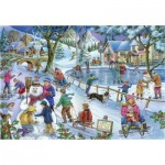 Puzzle  The-House-of-Puzzles-3589 Touvez les 15 Différences No.9 - Frosty & Friends