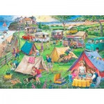 Puzzle  The-House-of-Puzzles-3824 Trouvez les 15 Différences No.10 - Camping