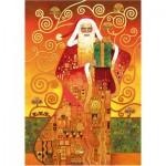Wentworth-691203-500 Puzzle en Bois - Carol Lawson : Le Père Noël de Klimt