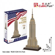 Cubic-Fun-C246h Puzzle 3D - Empire State Building (Difficulté: 4/8)
