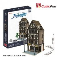 Cubic-Fun-HO4104h Puzzle 3D - Jigscape Collection - Tudor Restaurant (Difficulté: 5/6)