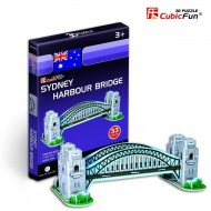 Cubic-Fun-S3002H Puzzle 3D Série Mini - Autralie : Sydney Harbour Bridge (Difficulté : 2/8)