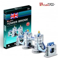 Cubic-Fun-S3010H Puzzle 3D Série Mini - Royaume Uni : Tower Bridge de Londres (Difficulté 2/8)