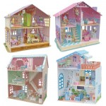 Cubic-Fun-Set-Doll-Houses 4 Puzzles 3D - Set Maisons de Poupée