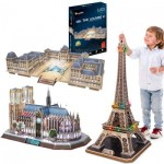 Cubic-Fun-Set-Paris 3 Puzzles 3D - Paris