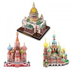 Cubic-Fun-Set-Russian 3 Puzzles 3D - Cathédrales Russes