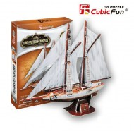 Cubic-Fun-T4007H Puzzle 3D - Two-Masted Schooner