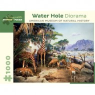 Puzzle  Pomegranate-AA939 Water Hole Diorama - American Museum of Natural History