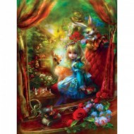 Puzzle  Master-Pieces-31648 Pièces XXL - Book Box - Alice at the Chessboard
