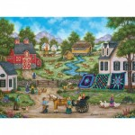 Puzzle  Master-Pieces-31682 Heartland - Roadside Gossip