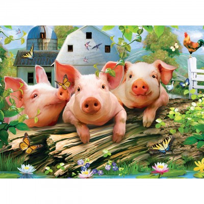 Puzzle Master-Pieces-31817 Pièces XXL - Three Lil' Pigs