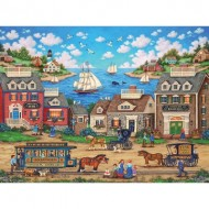 Puzzle  Master-Pieces-32050 Oceanside Trolley