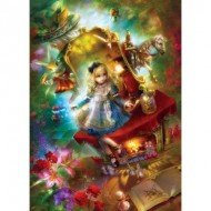 Puzzle  Master-Pieces-71552 Book Box - Lost in Wonderland