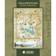 Puzzle  Master-Pieces-71698 Xplorer Maps - Yellowstone
