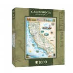 Puzzle  Master-Pieces-71706 Xplorer Maps - California