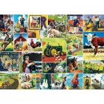Puzzle  Master-Pieces-71808 Farmland Collage