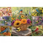 Puzzle  Cobble-Hill-50712 Rosemary Millette - Rosemary's Birds