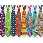 Puzzle  Cobble-Hill-52097 Pièces XXL - Father's Day Ties