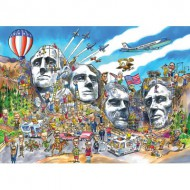 Puzzle  Cobble-Hill-53503 DoodleTown : Mount Rushmore