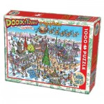 Puzzle  Cobble-Hill-53505 DoodleTown: 12 Days of Christmas