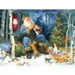 Puzzle  Cobble-Hill-54588 Old World Santa