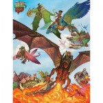 Puzzle  Cobble-Hill-54593 Pièces XXL - Dragon Flight