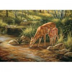 Puzzle  Cobble-Hill-54626 Pièces XXL - Deer Family