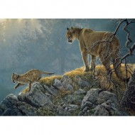 Puzzle  Cobble-Hill-54635 Pièces XXL - Excursion: Cougar and Kits