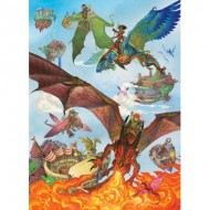 Puzzle  Cobble-Hill-54636 Pièces XXL - Dragon Flight